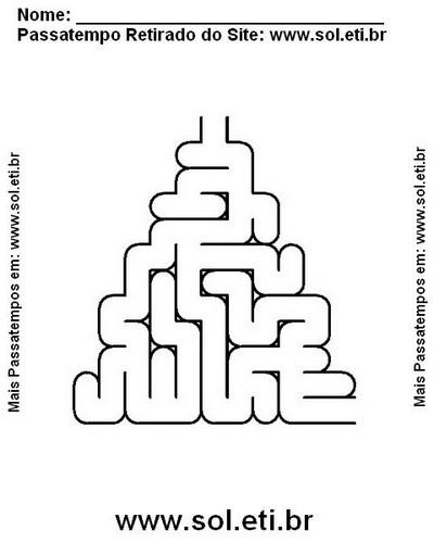 Labirintto Para Imprimir Em Formato De Triangulo Passatempo Para