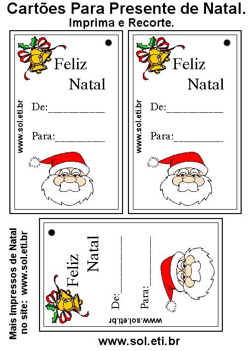 Cartão De Natal Para Imprimir Com Papai Noel
